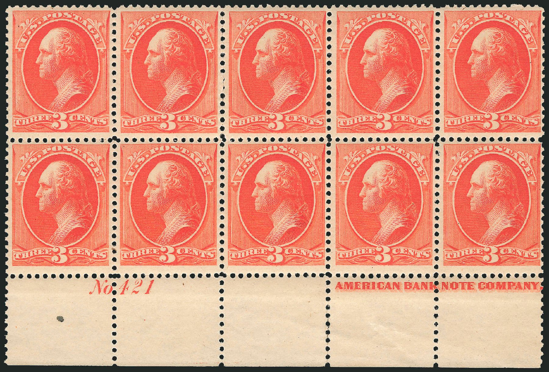Values of US Stamps Scott Catalogue #214: 3c 1883 Washington. Robert Siegel Auction Galleries, Apr 2015, Sale 1096, Lot 375