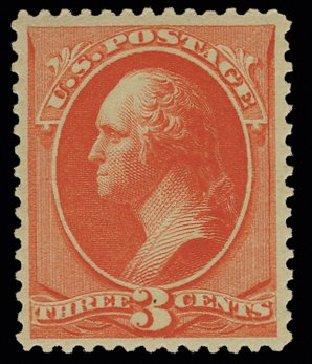 Values of US Stamp Scott Catalog #214: 1883 3c Washington. H.R. Harmer, May 2014, Sale 3005, Lot 1152