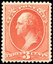 Costs of US Stamp Scott Catalogue #214: 3c 1883 Washington. Schuyler J. Rumsey Philatelic Auctions, Apr 2015, Sale 60, Lot 2193