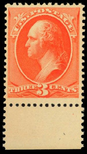 Cost of US Stamps Scott 214: 1883 3c Washington. Daniel Kelleher Auctions, Dec 2014, Sale 661, Lot 186
