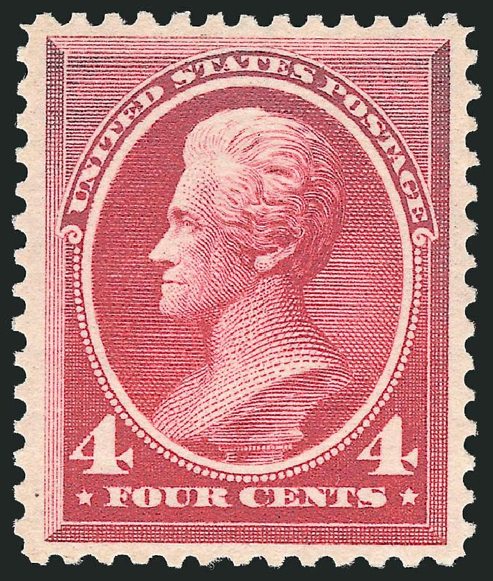 US Stamp Value Scott Catalogue #215: 4c 1883 Jackson. Robert Siegel Auction Galleries, Dec 2014, Sale 1090, Lot 1368