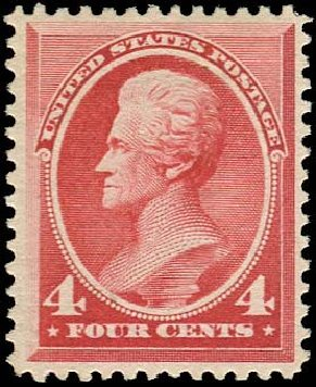 US Stamps Value Scott Catalogue #215 - 1883 4c Jackson. Regency-Superior, Nov 2014, Sale 108, Lot 399