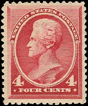 Price of US Stamp Scott #215: 4c 1883 Jackson. Regency-Superior, Aug 2015, Sale 112, Lot 370