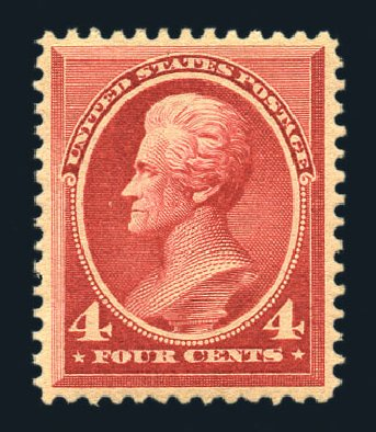 US Stamps Values Scott Catalogue # 215 - 4c 1883 Jackson. Harmer-Schau Auction Galleries, Aug 2015, Sale 106, Lot 1601