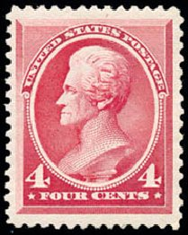 Prices of US Stamps Scott # 215 - 1883 4c Jackson. Schuyler J. Rumsey Philatelic Auctions, Apr 2015, Sale 60, Lot 2194