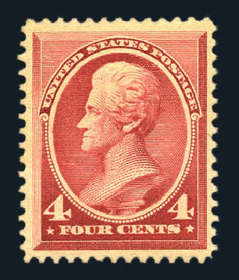 Prices of US Stamps Scott # 215: 4c 1883 Jackson. Harmer-Schau Auction Galleries, Aug 2015, Sale 106, Lot 1602