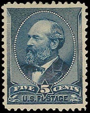 US Stamp Prices Scott Catalogue # 216: 1883 5c Garfield. H.R. Harmer, Oct 2014, Sale 3006, Lot 1238
