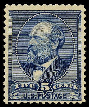 Prices of US Stamp Scott Catalog #216 - 5c 1883 Garfield. Daniel Kelleher Auctions, May 2015, Sale 669, Lot 2691