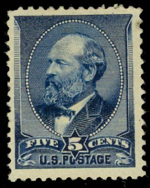 Price of US Stamp Scott Cat. # 216: 1883 5c Garfield. Daniel Kelleher Auctions, Jan 2015, Sale 663, Lot 1432