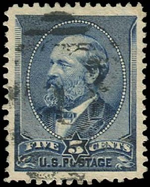 Prices of US Stamp Scott Cat. # 216 - 5c 1883 Garfield. Regency-Superior, Aug 2015, Sale 112, Lot 372