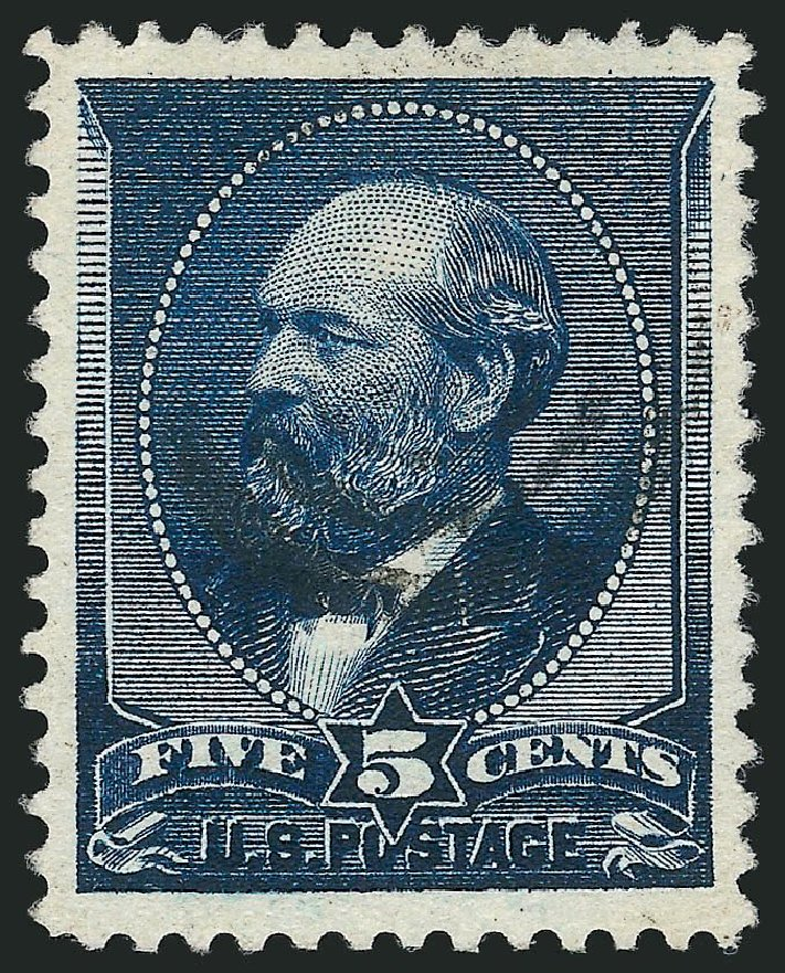 Cost of US Stamps Scott Catalog 216: 5c 1883 Garfield. Robert Siegel Auction Galleries, Nov 2014, Sale 1084, Lot 3483