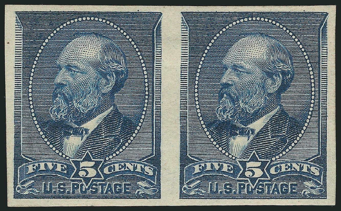 Costs of US Stamps Scott Cat. #216: 5c 1883 Garfield. Robert Siegel Auction Galleries, Feb 2015, Sale 1092, Lot 1153