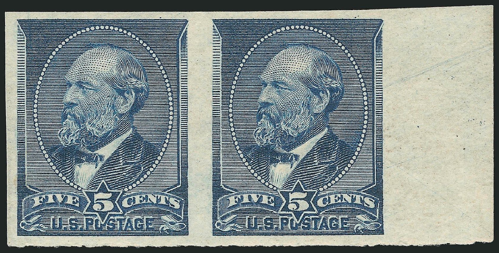 Prices of US Stamps Scott Catalog #216: 1883 5c Garfield. Robert Siegel Auction Galleries, Oct 2014, Sale 1082, Lot 396