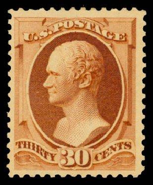 Prices of US Stamp Scott 217: 1883 30c Hamilton. Daniel Kelleher Auctions, Aug 2015, Sale 672, Lot 2457
