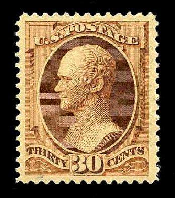 Value of US Stamp Scott Catalogue 217: 1883 30c Hamilton. Harmer-Schau Auction Galleries, Aug 2015, Sale 106, Lot 1608