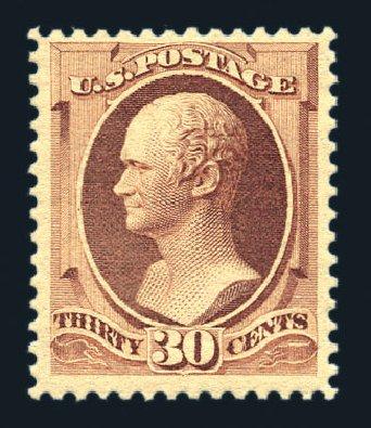 Cost of US Stamp Scott Catalog #217 - 1883 30c Hamilton. Harmer-Schau Auction Galleries, Aug 2015, Sale 106, Lot 1605
