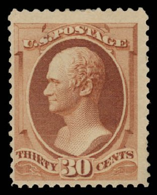 Costs of US Stamp Scott Catalog 217 - 1883 30c Hamilton. Daniel Kelleher Auctions, May 2015, Sale 669, Lot 2695