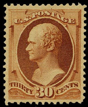 Cost of US Stamp Scott Catalog 217: 1883 30c Hamilton. Daniel Kelleher Auctions, May 2015, Sale 669, Lot 2693