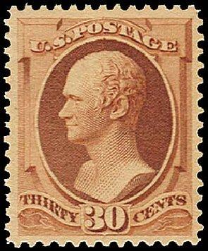 US Stamp Values Scott Catalogue 217 - 30c 1883 Hamilton. Regency-Superior, Aug 2015, Sale 112, Lot 373