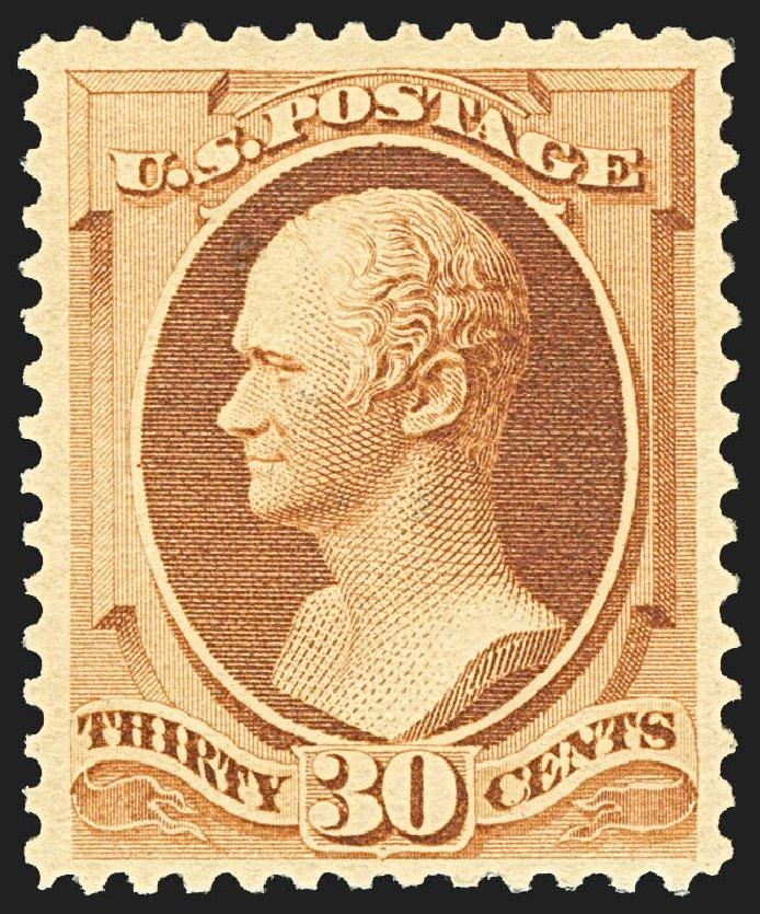 Values of US Stamps Scott Catalogue #217 - 1883 30c Hamilton. Robert Siegel Auction Galleries, Jul 2015, Sale 1107, Lot 293