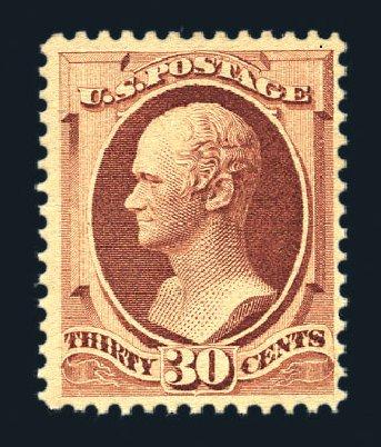 Costs of US Stamps Scott Catalog # 217 - 1883 30c Hamilton. Harmer-Schau Auction Galleries, Aug 2015, Sale 106, Lot 1606