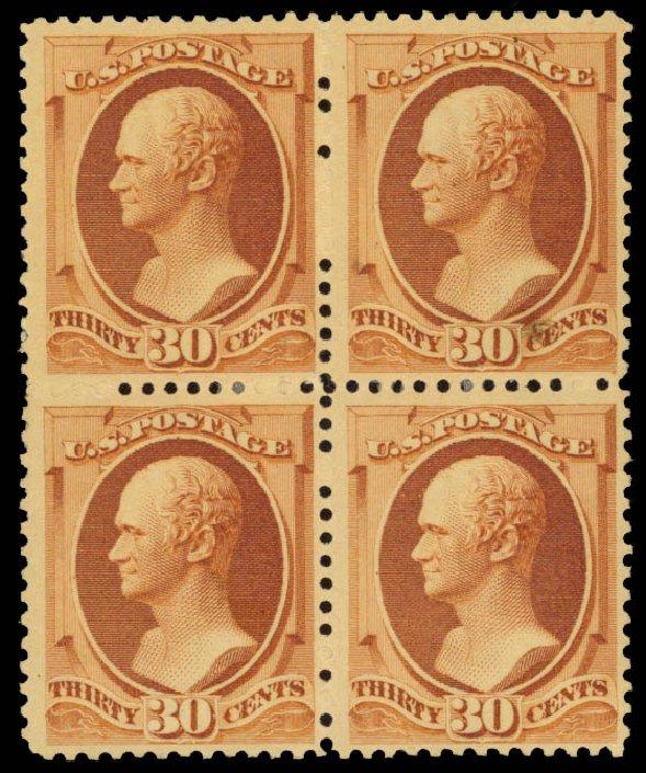 Value of US Stamp Scott #217 - 1883 30c Hamilton. Daniel Kelleher Auctions, May 2015, Sale 669, Lot 2696