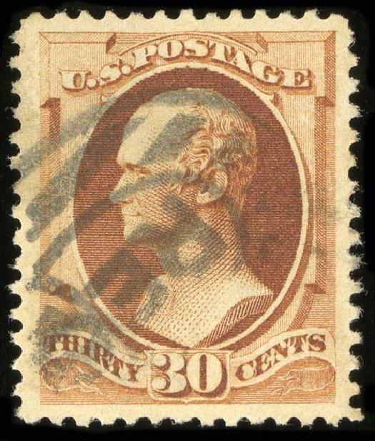 Costs of US Stamp Scott Catalog #217: 30c 1883 Hamilton. Spink Shreves Galleries, Jul 2015, Sale 151, Lot 176