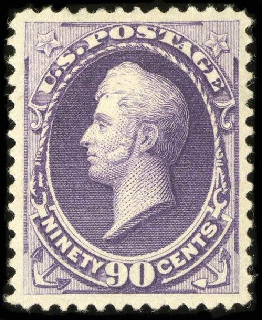 US Stamps Price Scott Cat. #218 - 90c 1883 Perry. Spink Shreves Galleries, Jul 2015, Sale 151, Lot 177