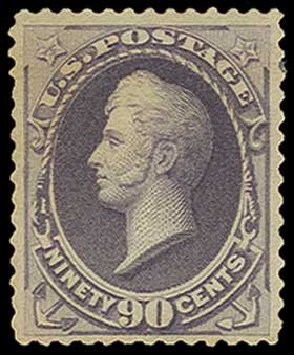 Cost of US Stamp Scott Catalog 218 - 1883 90c Perry. H.R. Harmer, Jun 2015, Sale 3007, Lot 3230