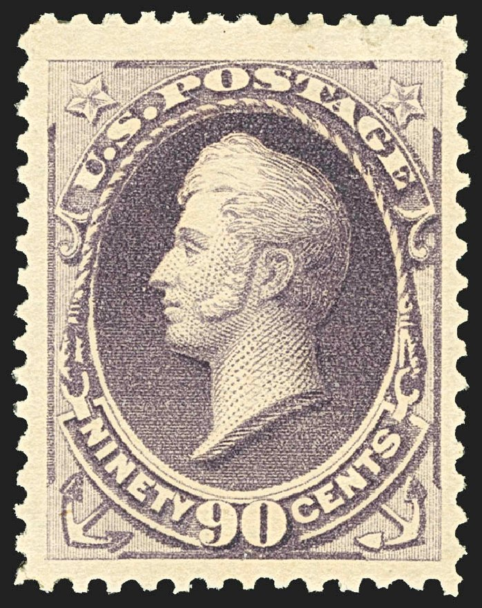Costs of US Stamp Scott 218: 90c 1883 Perry. Robert Siegel Auction Galleries, Jul 2015, Sale 1107, Lot 294