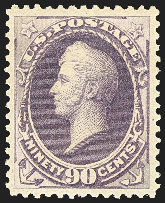 US Stamp Value Scott Cat. #218: 1883 90c Perry. Robert Siegel Auction Galleries, Jul 2015, Sale 1107, Lot 295