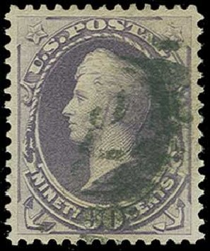 US Stamp Price Scott Catalogue #218: 1883 90c Perry. H.R. Harmer, Jun 2015, Sale 3007, Lot 3232