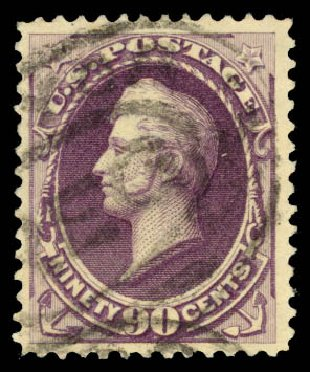 US Stamps Prices Scott Catalogue # 218: 90c 1883 Perry. Daniel Kelleher Auctions, Aug 2015, Sale 672, Lot 2462