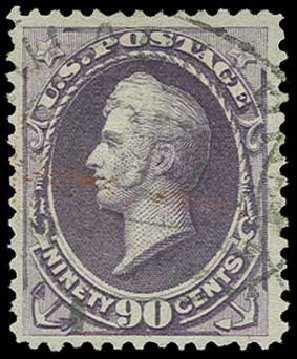 US Stamp Value Scott Cat. #218 - 90c 1883 Perry. H.R. Harmer, Jun 2015, Sale 3007, Lot 3233