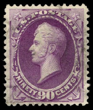 US Stamps Prices Scott Catalog #218: 1883 90c Perry. Daniel Kelleher Auctions, Aug 2015, Sale 672, Lot 2463