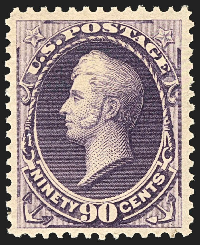 Costs of US Stamps Scott Cat. #218: 1883 90c Perry. Robert Siegel Auction Galleries, Jul 2015, Sale 1107, Lot 296