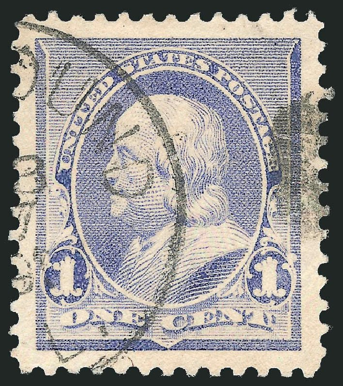 Values of US Stamps Scott Catalogue 219 - 1890 1c Franklin. Robert Siegel Auction Galleries, Sep 2012, Sale 1027, Lot 107
