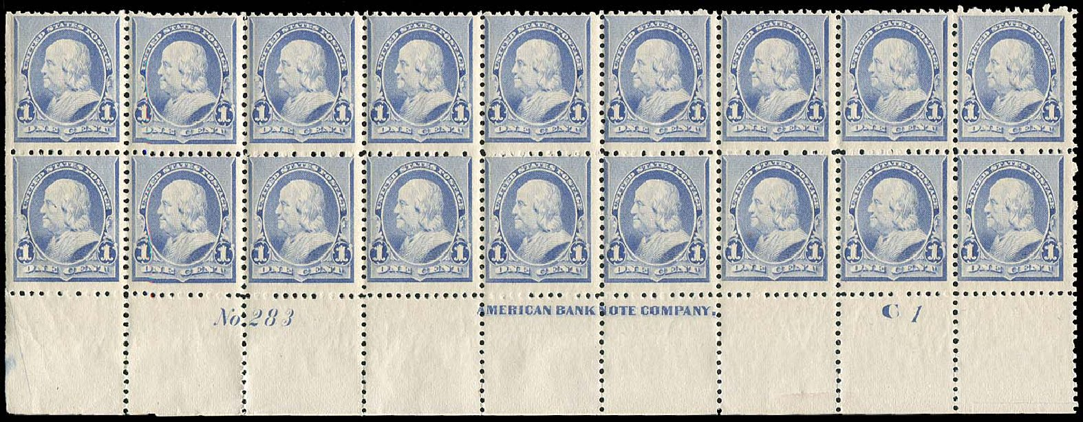 Costs of US Stamps Scott Catalogue #219 - 1c 1890 Franklin. Regency-Superior, Aug 2015, Sale 112, Lot 1278