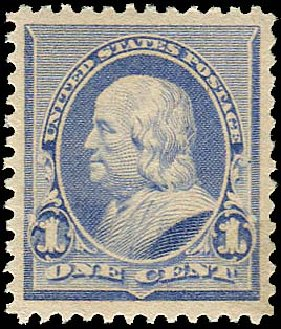Values of US Stamps Scott #219: 1c 1890 Franklin. Regency-Superior, Aug 2015, Sale 112, Lot 378