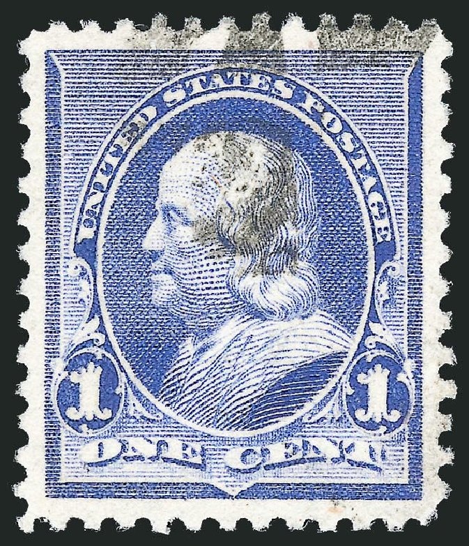 US Stamp Value Scott 219: 1c 1890 Franklin. Robert Siegel Auction Galleries, Nov 2014, Sale 1084, Lot 3498
