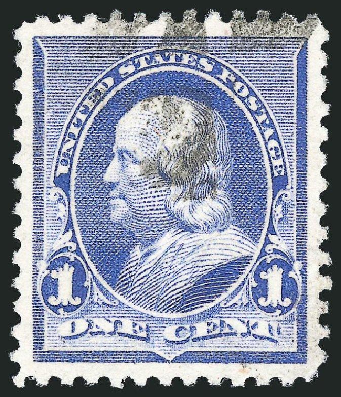 US Stamp Value Scott 219: 1c 1890 Franklin. Robert Siegel Auction Galleries, Nov 2014, Sale 1084, Lot 3498
