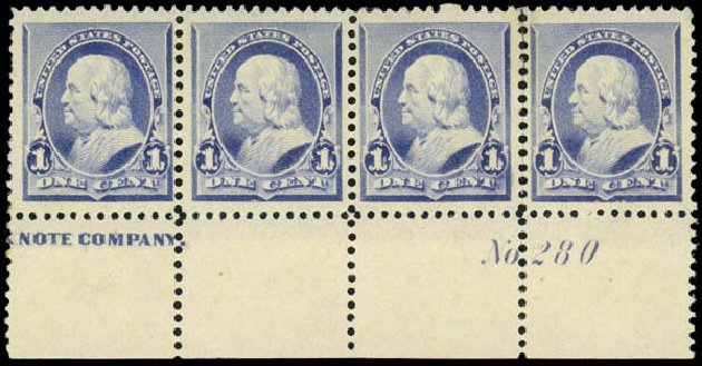 US Stamps Prices Scott Catalogue # 219: 1c 1890 Franklin. Daniel Kelleher Auctions, Dec 2013, Sale 640, Lot 179