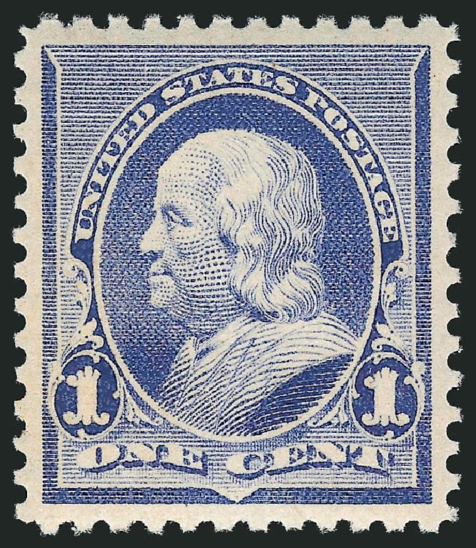 Value of US Stamps Scott #219 - 1890 1c Franklin. Robert Siegel Auction Galleries, Feb 2015, Sale 1092, Lot 1159