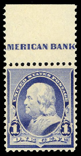 US Stamps Value Scott Cat. #219: 1c 1890 Franklin. Daniel Kelleher Auctions, Dec 2012, Sale 633, Lot 441