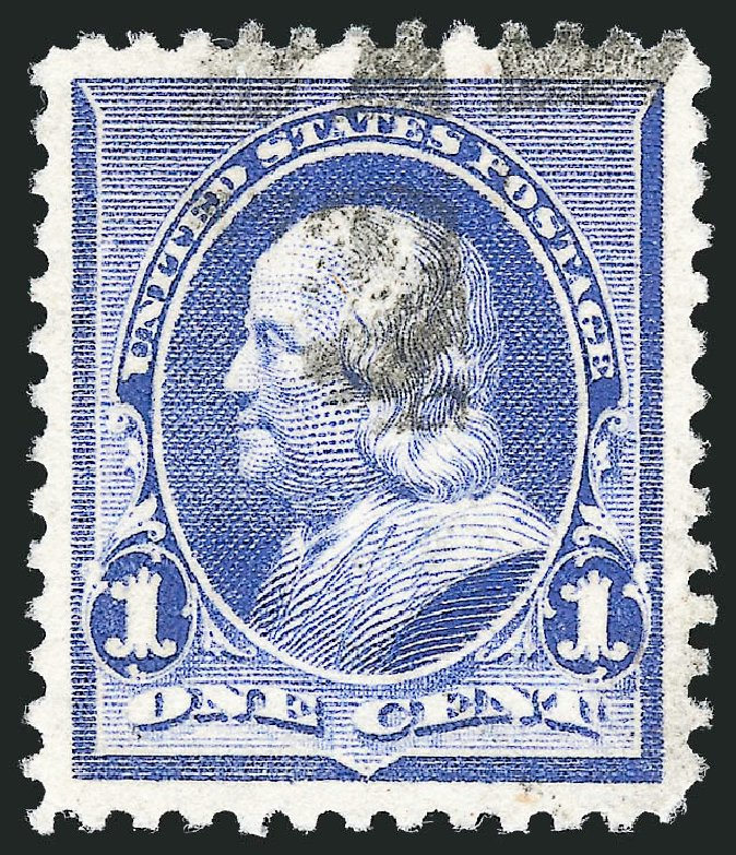 US Stamps Values Scott # 219 - 1c 1890 Franklin. Robert Siegel Auction Galleries, Oct 2012, Sale 1032, Lot 3321