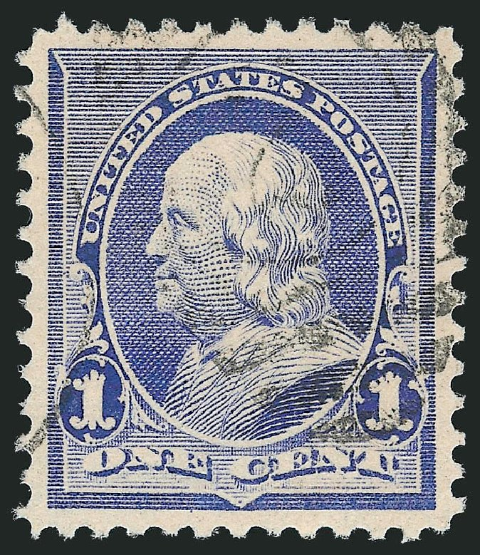 Costs of US Stamp Scott #219 - 1890 1c Franklin. Robert Siegel Auction Galleries, Nov 2012, Sale 1034, Lot 195