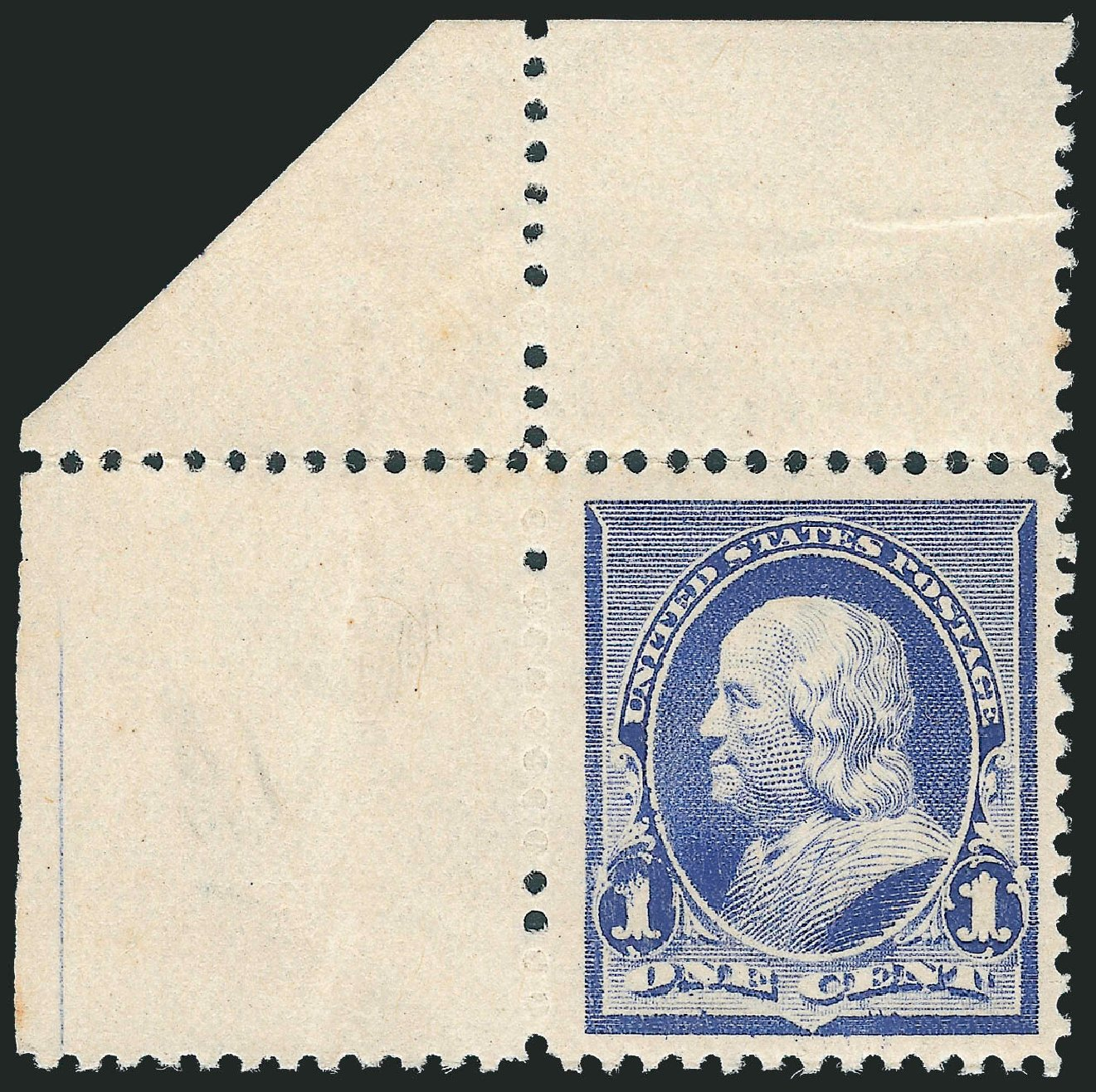 US Stamps Values Scott Cat. # 219 - 1c 1890 Franklin. Robert Siegel Auction Galleries, Dec 2012, Sale 1037, Lot 1772