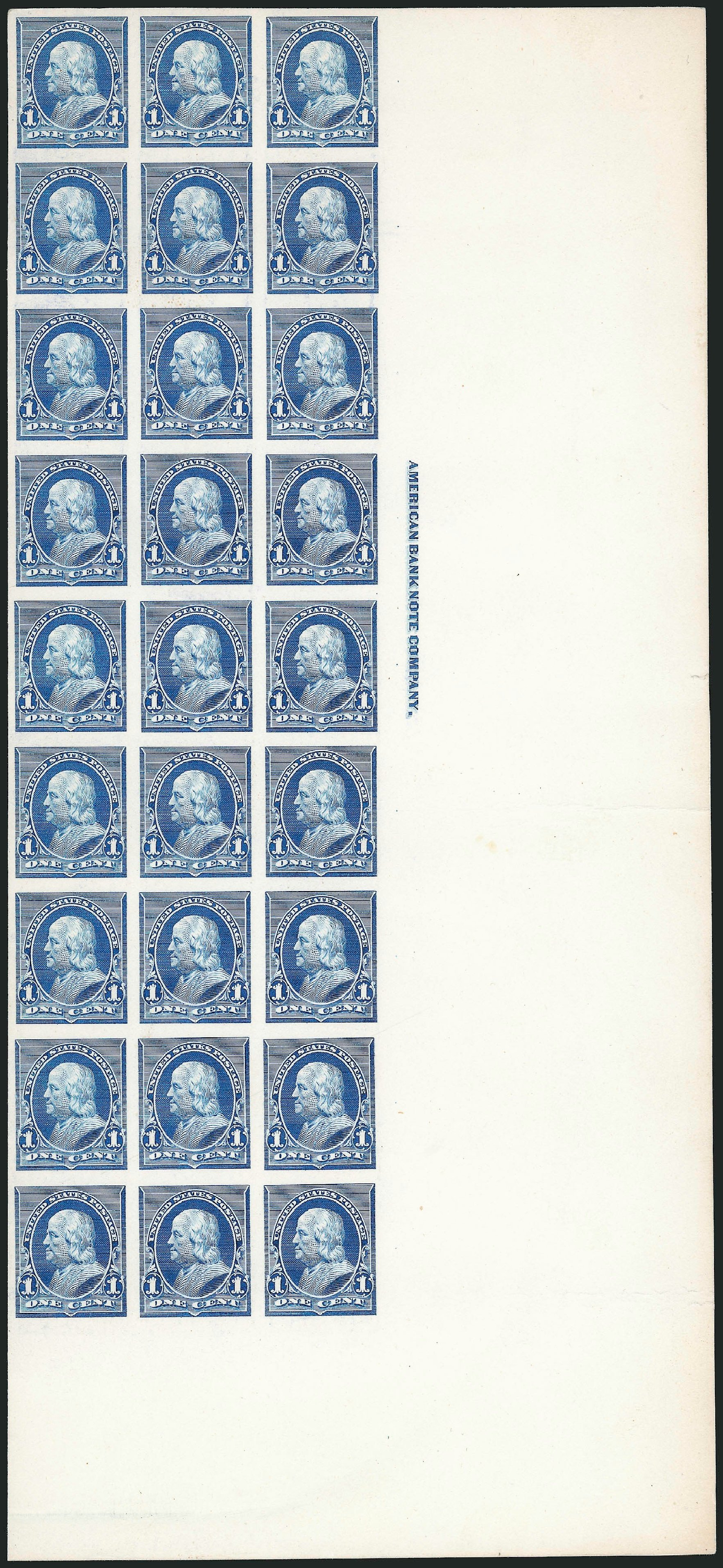 US Stamps Values Scott Cat. #219 - 1890 1c Franklin. Robert Siegel Auction Galleries, Oct 2014, Sale 1082, Lot 133