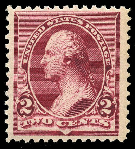 US Stamp Price Scott Catalog # 219D: 2c 1890 Washington. Matthew Bennett International, May 2014, Sale 350, Lot 328