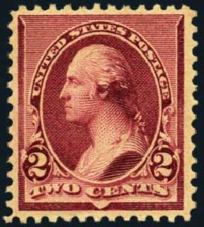 US Stamps Value Scott Catalog # 219D: 2c 1890 Washington. Harmer-Schau Auction Galleries, Oct 2012, Sale 95, Lot 199